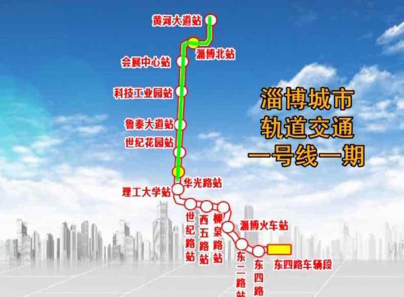 淄博轻轨 淄博轻轨站点图来了!近30个站点,看看你家门口有没有!