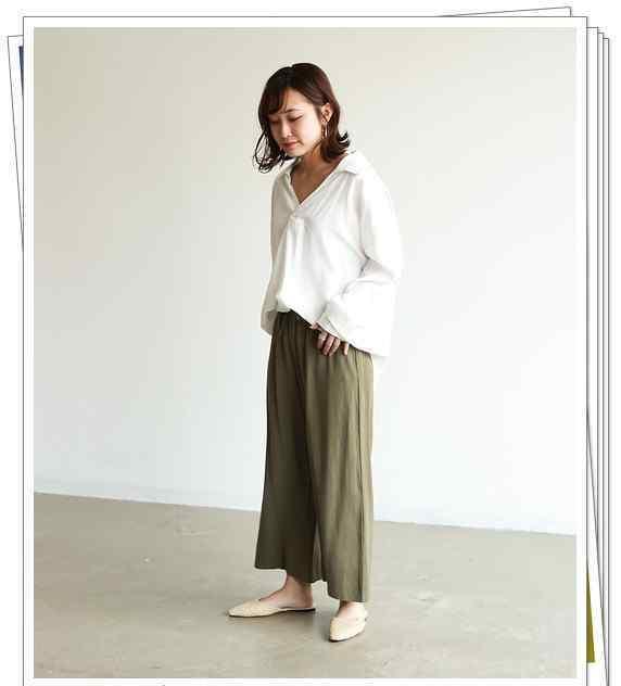 绿色裤子配什么上衣 绿色阔腿裤的50种夏季搭配 时髦的女人都在穿 配什么上衣都好看